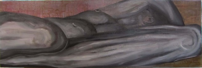 Acrylic on Canvas....120x 40cm
